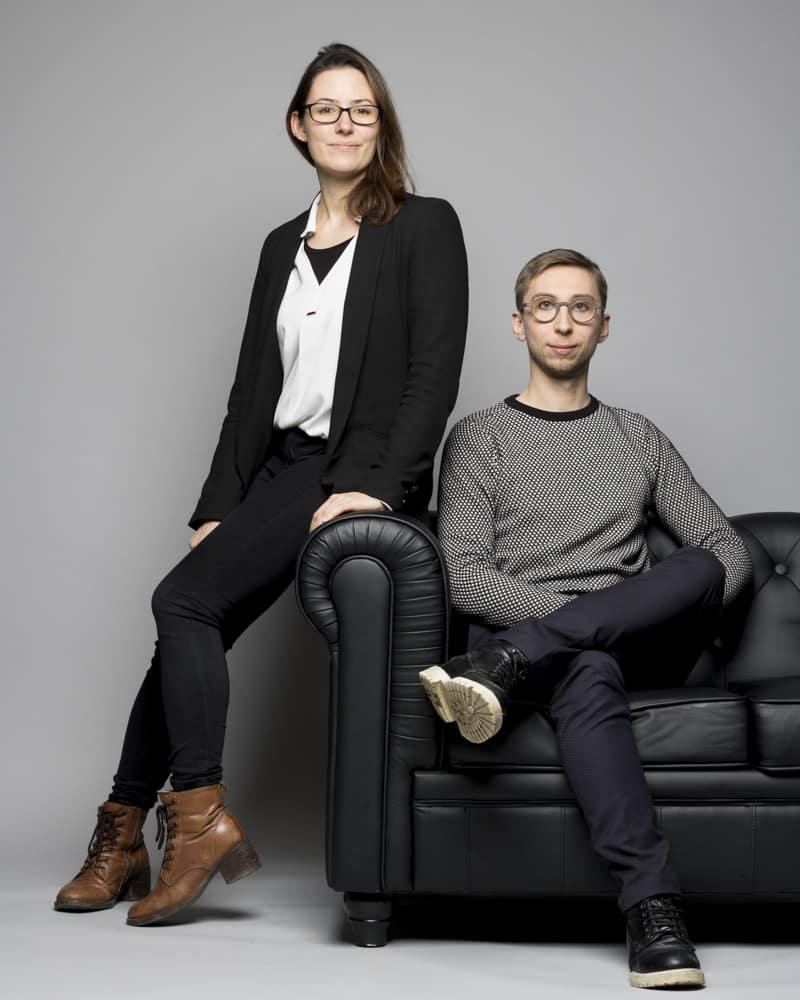 Photo de Laura Perréard et Vincent Dumont, architectes et fondateur de Sensorium Architecture